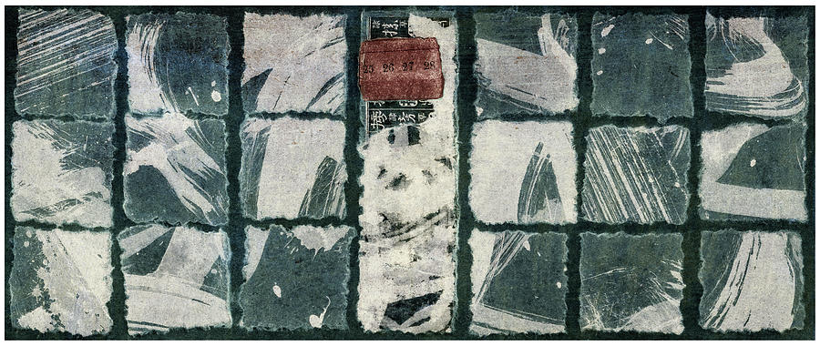 Torn Squares Collage by Carol Leigh