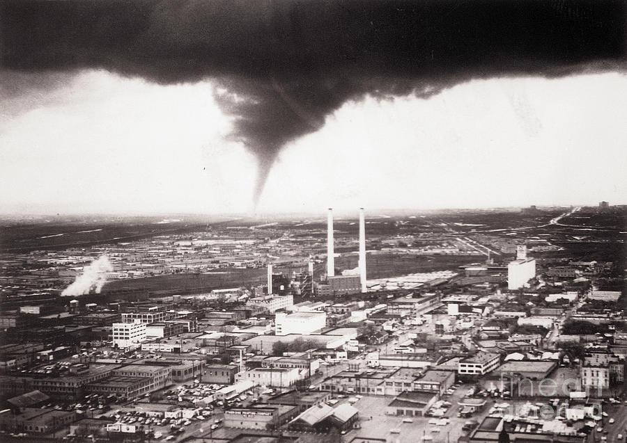Tornado Moving Through Dallas Photograph by Bettmann