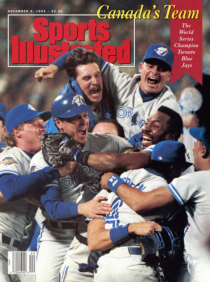 Toronto Blue Jays Joe Carter, 1992 World Series Sports Illustrated Cover Photograph by Sports Illustrated