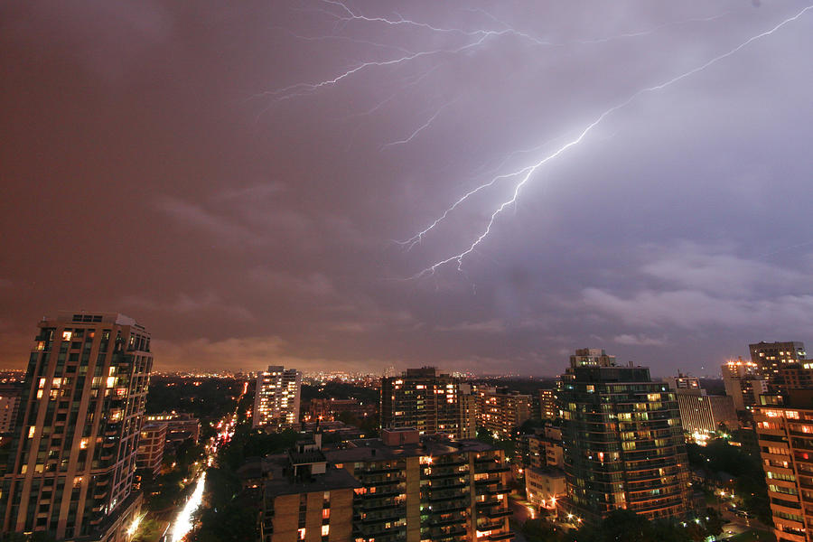 Toronto Lighting Photograph by Roozbeh Rokni