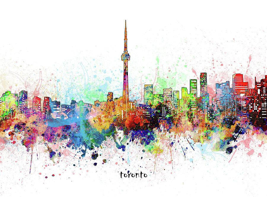 Toronto Digital Art - Toronto Skyline Artistic by Bekim M