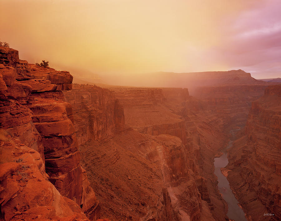 Grand Canyon Photograph - Toroweap Overlook Storm Sunrise by Leland D Howard