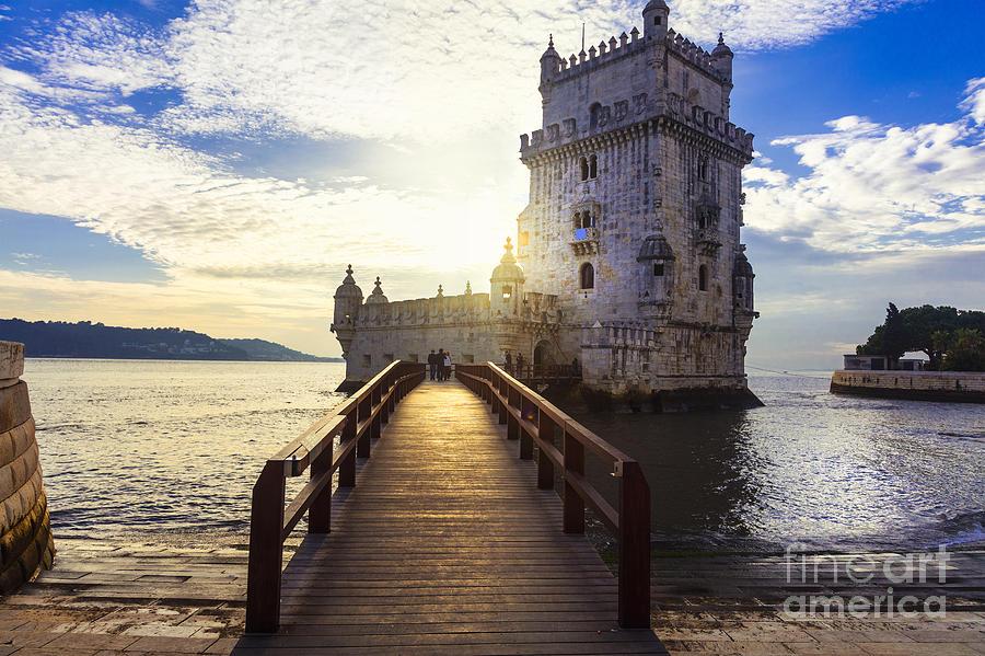 Castle Photograph - Torre De Belem - Famous Landmark Of by Leoks
