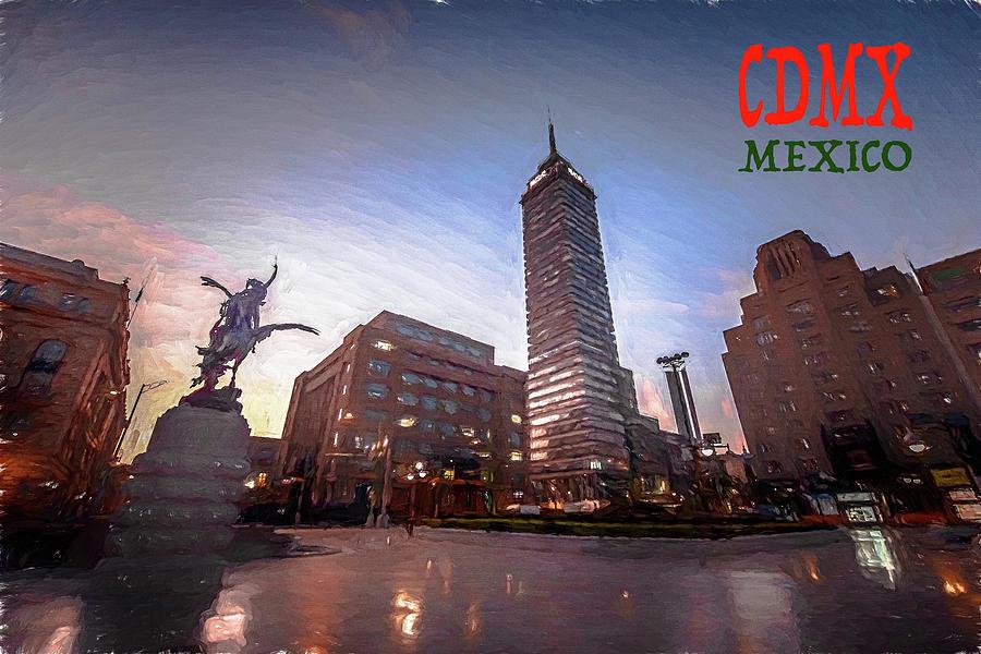 Michelle Saraswati Photograph - Torre Latinoamericana H1 by Michelle Saraswati