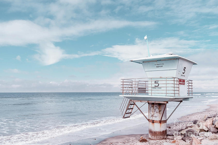 California Photograph - Torrey Pines Beach Lightguard Station Number 5 by Wendy Fielding