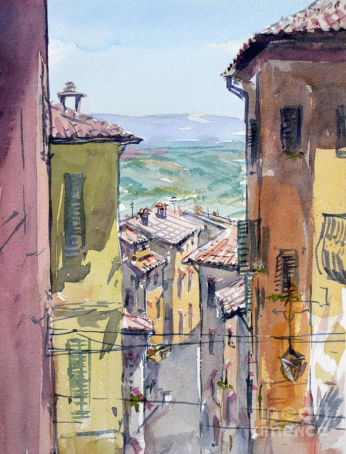 Toscana Painting - Toscana roofs by Igal Kogan