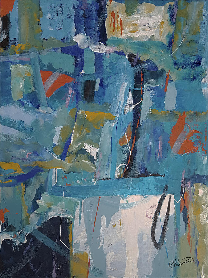 Abstract Painting - Tossed Back And Forth by Ruth Palmer