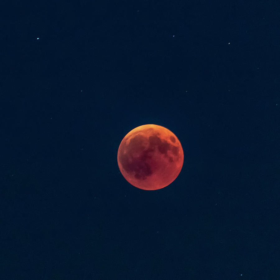 Space Photograph -  Total lunar eclipse, 27 July 2018 by Nunzio Mannino