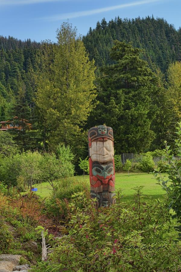 Totem - Hoonah, Alaska by Paulette B Wright