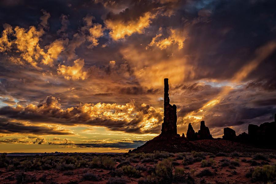 Totem Pole Dawn by William Christiansen
