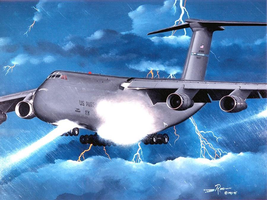 Lockheed Painting - Touch Down by Peter Ring Sr
