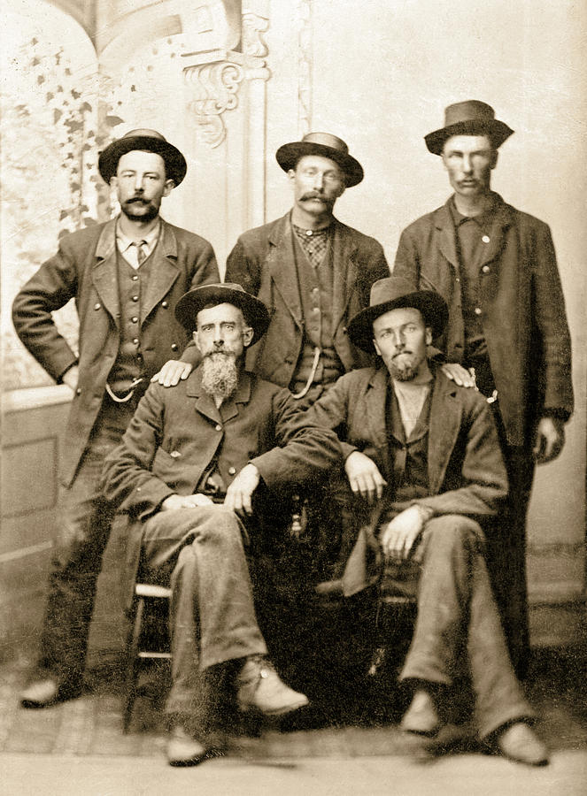 Old West Photograph - Tough Men Of Old West 4 by Daniel Hagerman