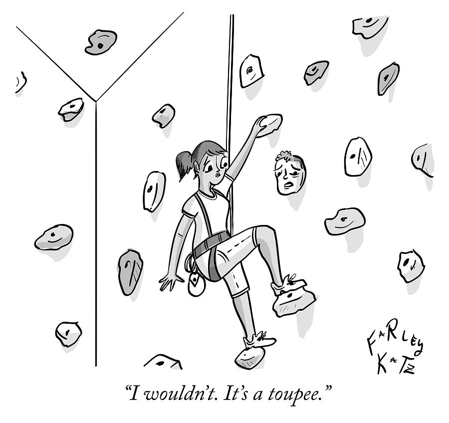Toupee Drawing by Farley Katz