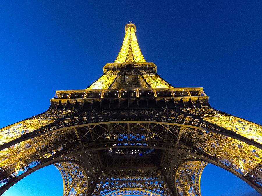 Tour Eiffel At Night - Paris - France Photograph