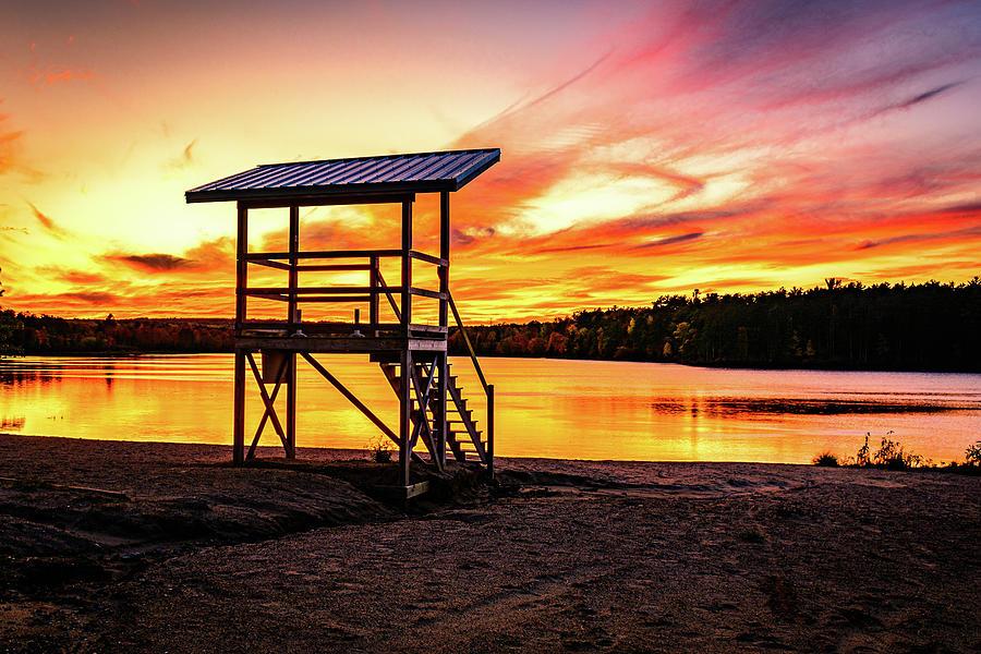 Tourist Park Sunset by John Wilkinson