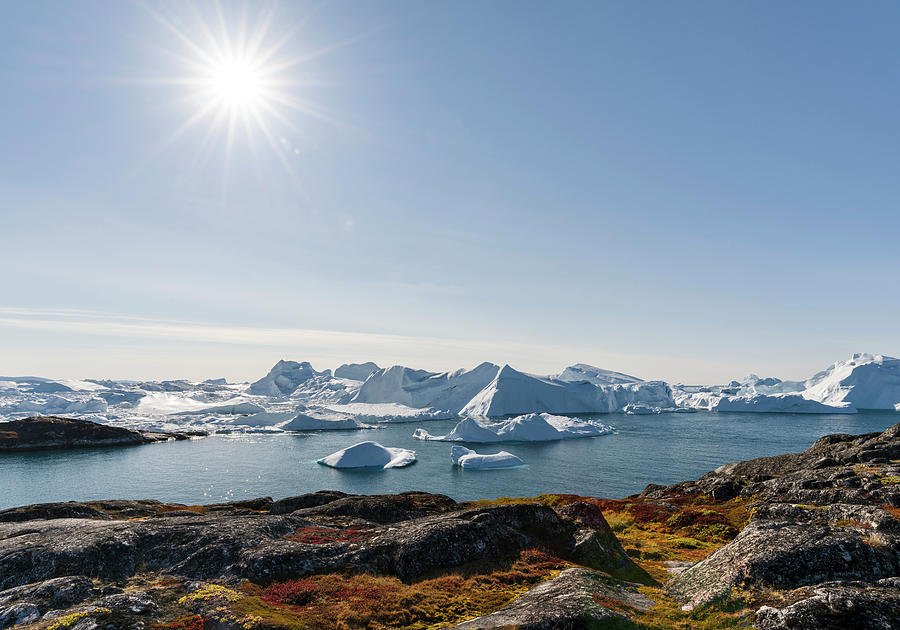 Arctic Photograph - Tourists Admiring The Fjord by Martin Zwick