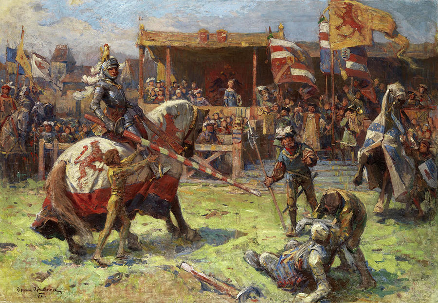 Tournament Painting - Tournament by Zygmunt Ajdukiewicz
