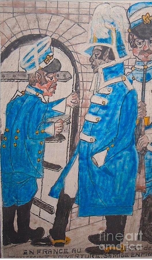 Toussaint Louverture En Prison Au Fort De Joux Painting