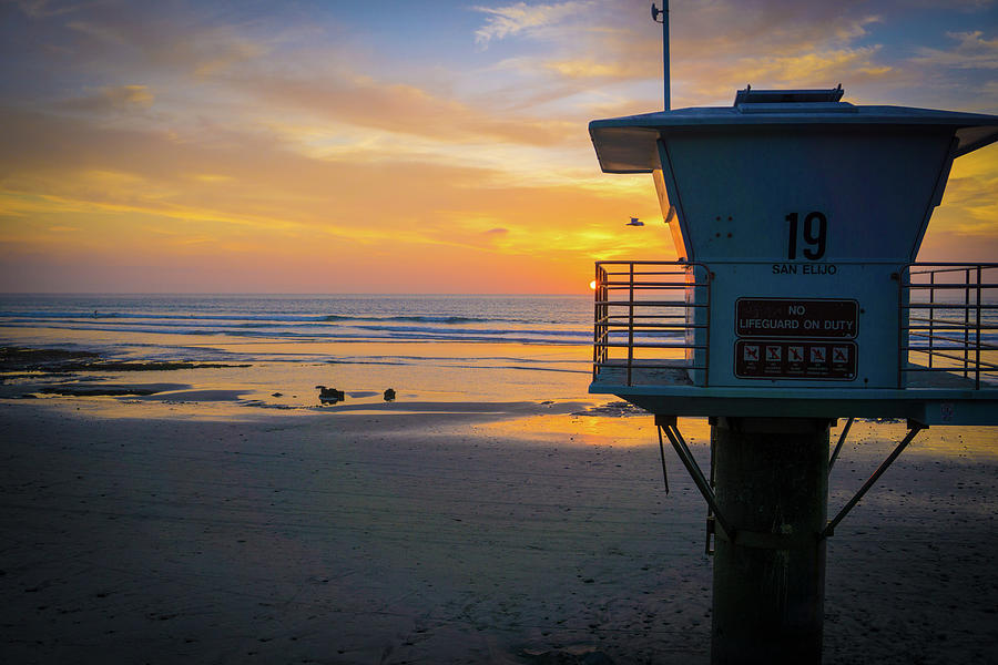 Surf Photograph - Tower 19, Office With A View by Richard A Brown