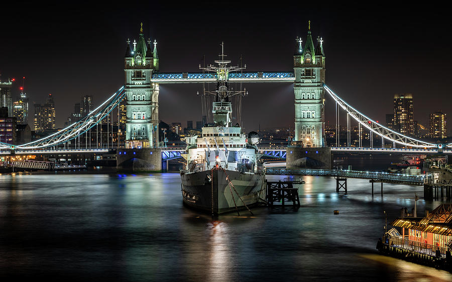 Tower Bridge and HMS Belfast by Framing Places