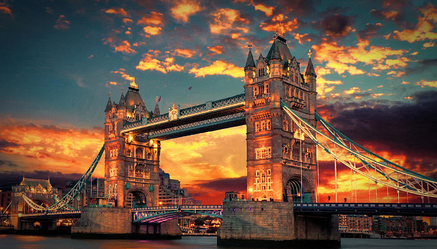 Tower Bridge at sunset London England - DWP1237288 by Dean Wittle
