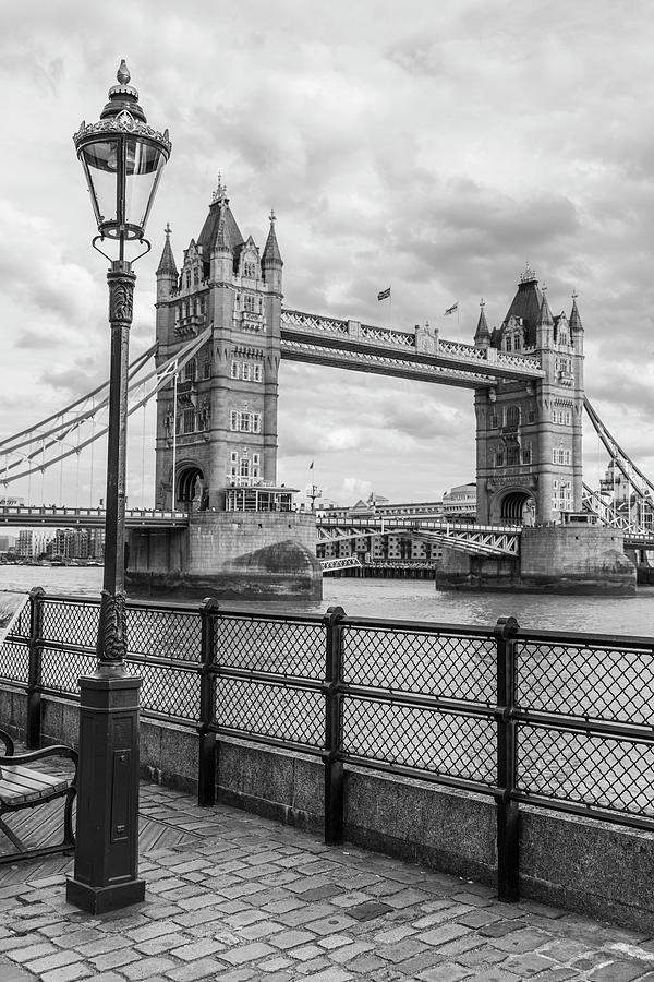 Tower Bridge London and Light Post  by John McGraw