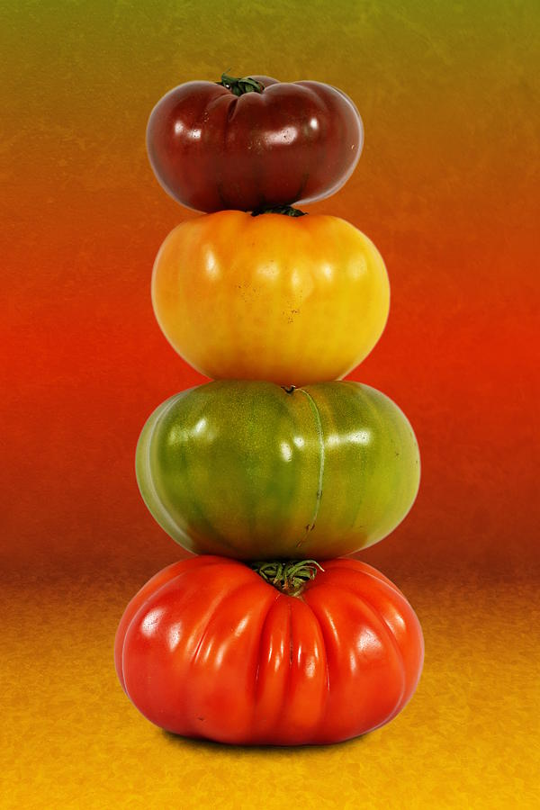 Tower of Colorful Tomatoes by Debi Dalio