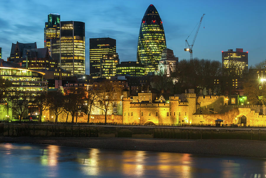 Britain Photograph - Tower of London at Night by David Ross