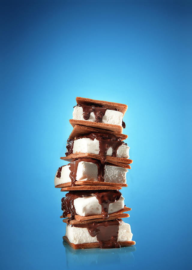 Tower Of Smores Treats Photograph by Annabelle Breakey