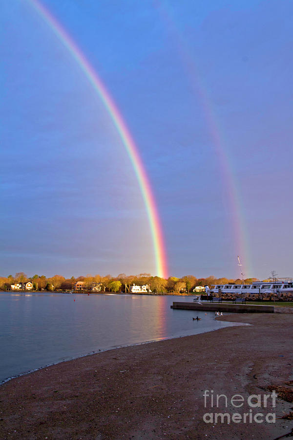 Town Beach Rainbow by Butch Lombardi