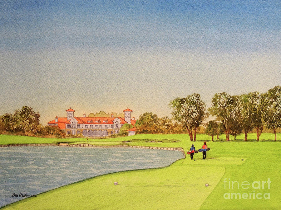 Tpc Sawgrass Golf Course 18th Hole Painting