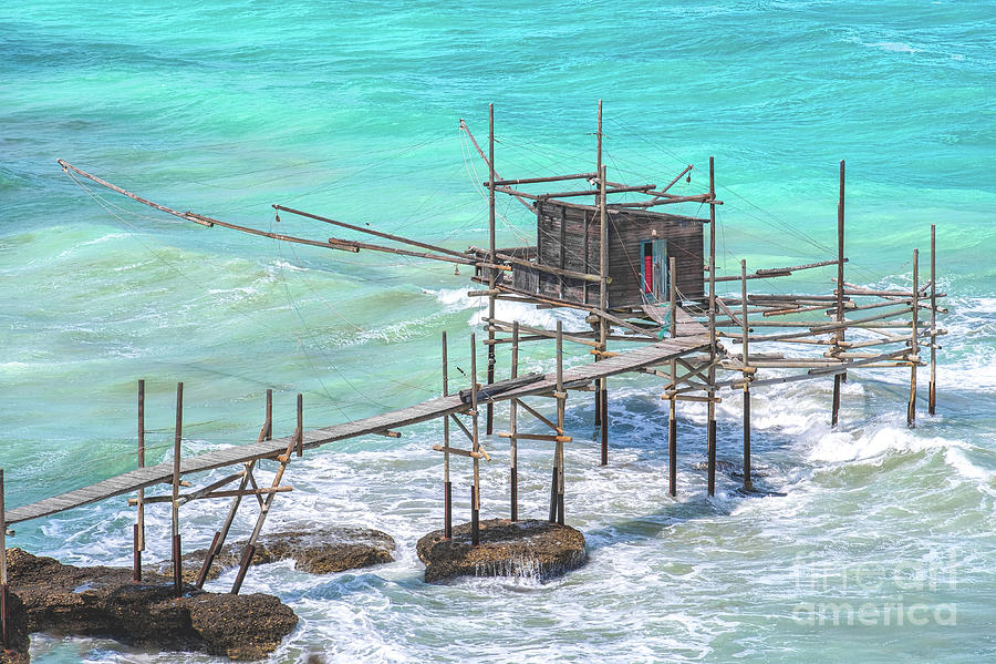 Trabocchi coast of Punta Aderci in Vasto - Abruzzo region ...