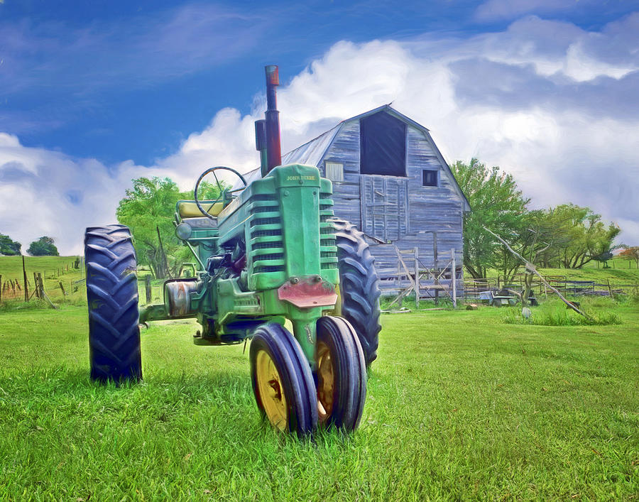 Tractors Photograph - Tractor - On The Farm by Nikolyn McDonald