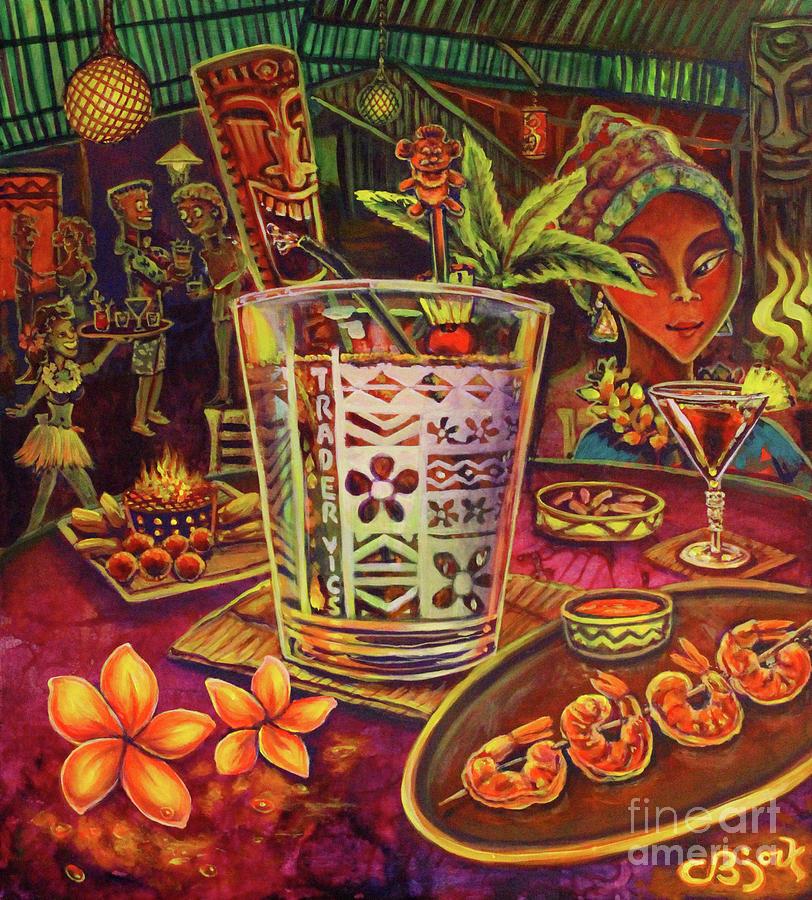 Trader Vic Mai Tai by CBjork Art