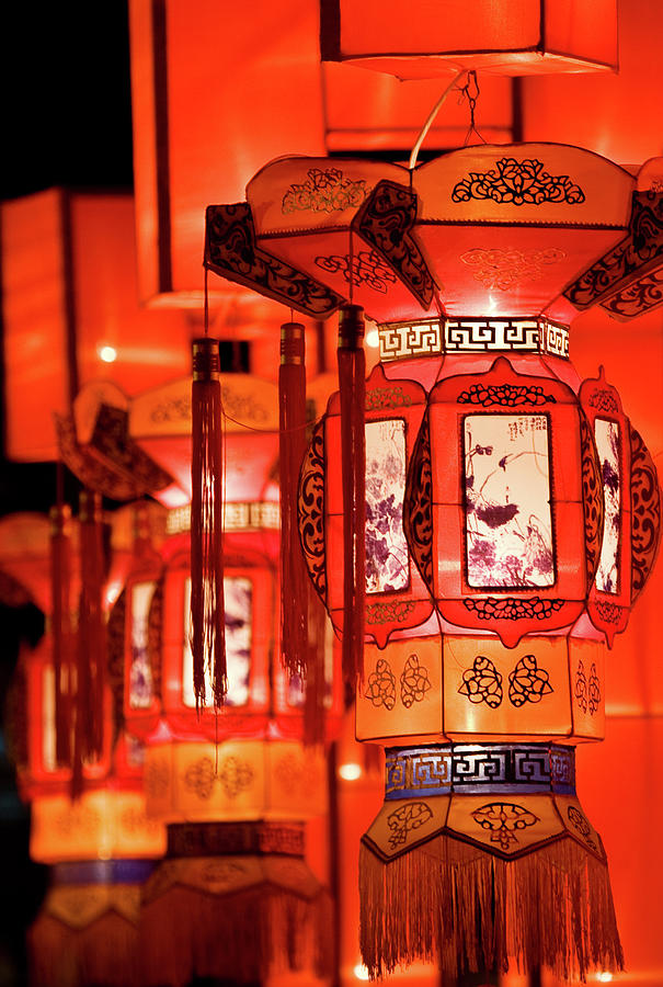 Chinese Culture Photograph - Traditional Chinese Lantern by Ymgerman