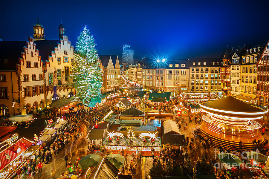 German Photograph - Traditional Christmas Market by S.borisov