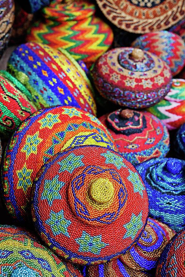 Traditional Colorful Baskets,bali Photograph by John W Banagan