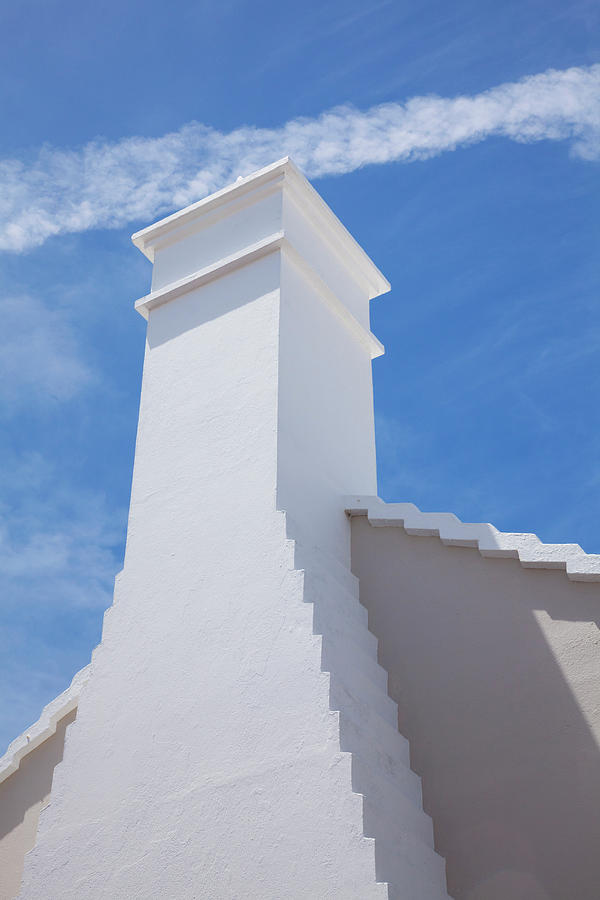 Traditional Roof And Chimney, Bermuda Photograph by Elisabeth Pollaert Smith