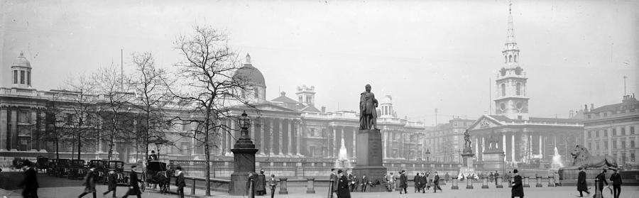 Panoramic Photograph - Trafalgar Square by Alfred Hind Robinson
