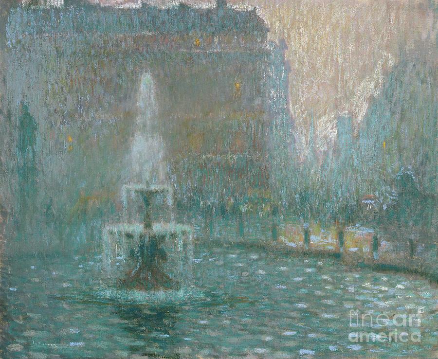 Henri Pastel - Trafalgar Square, Circa 1908 by Henri Eugene Augustin Le Sidaner