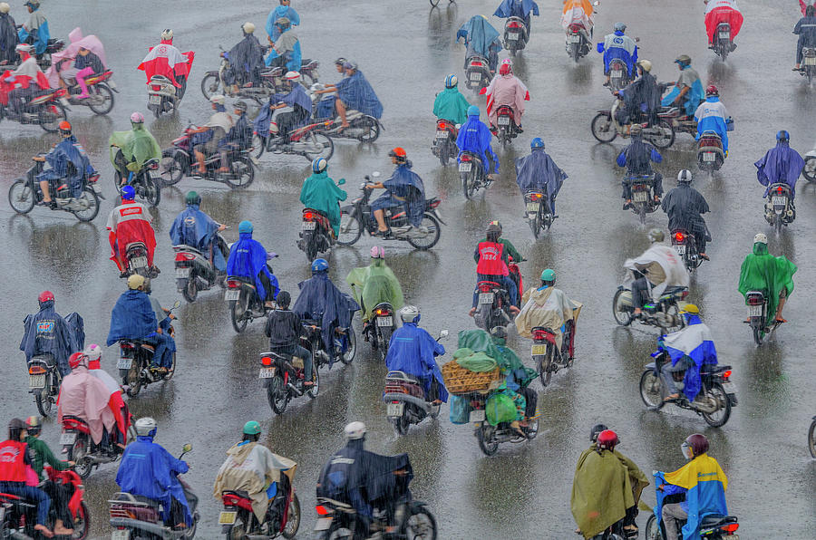Traffic In Ho Chi Minh City Photograph by Rwp Uk