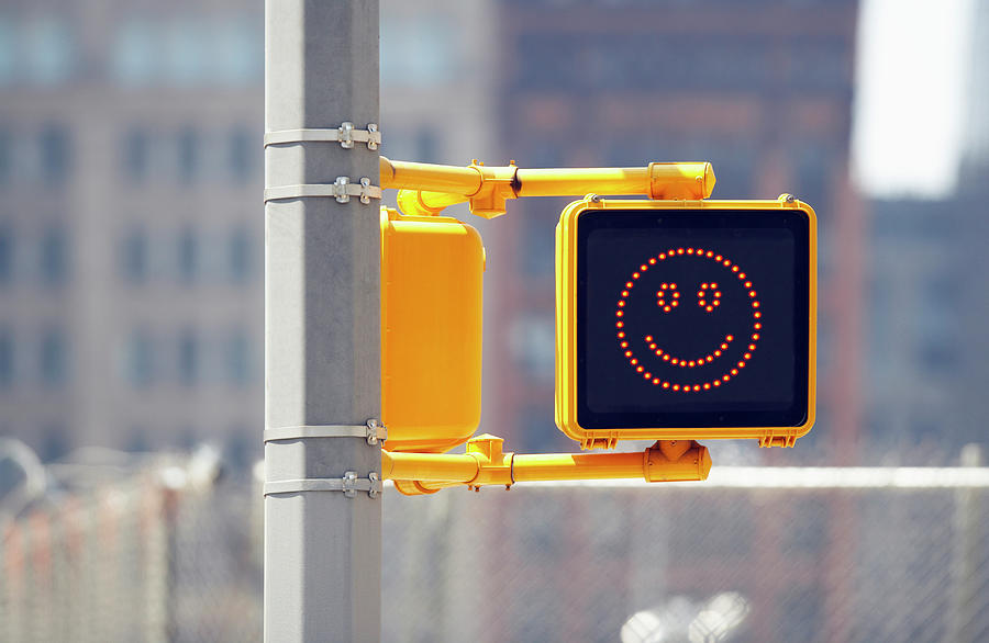 Traffic Sign With Smiley Face Photograph by Richard Newstead
