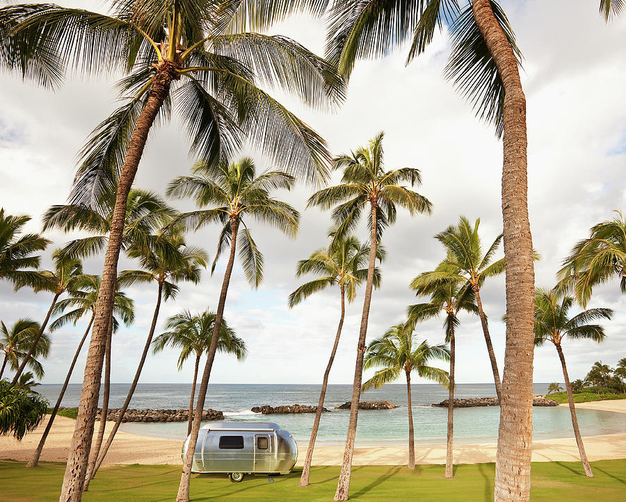 Trailer In Paradise Photograph by John Lund