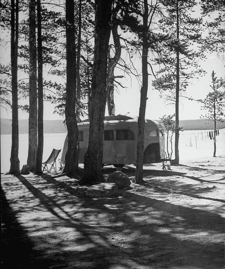 Trailer Park In Yellowstone National Photograph by Alfred Eisenstaedt