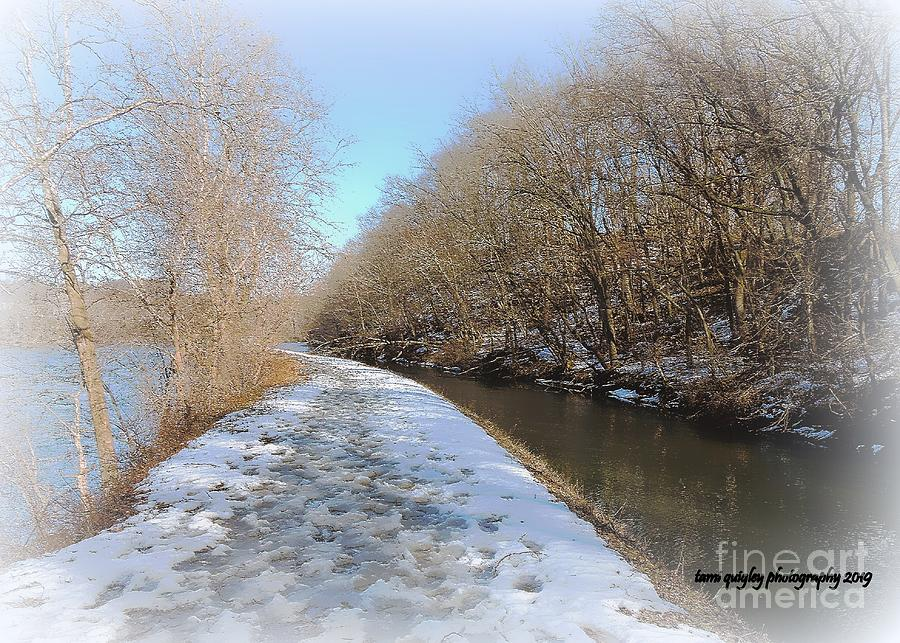 Trailing The Delaware In Winter by Tami Quigley