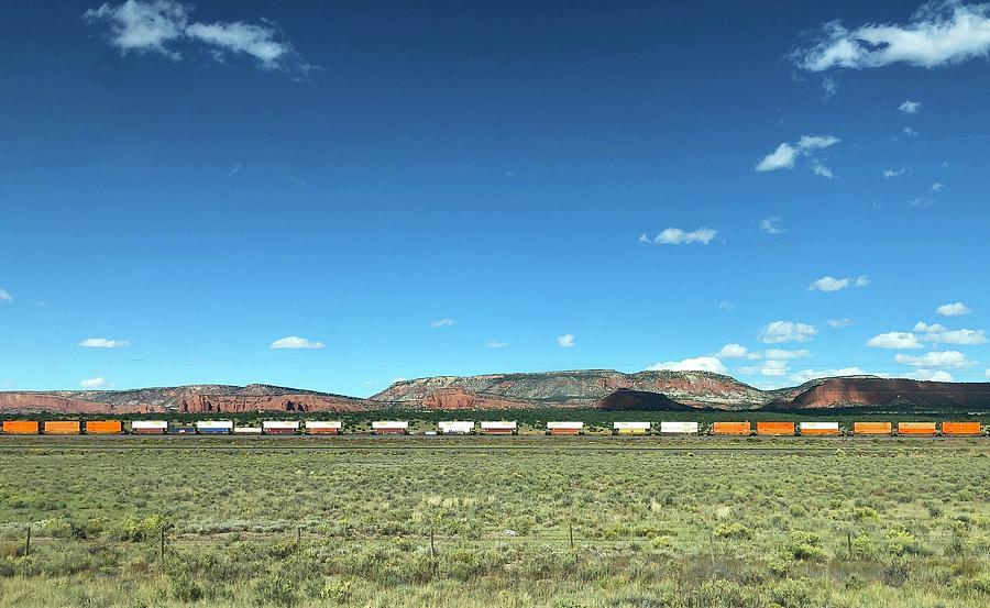 Train Against the Mesa by Charles Kraus