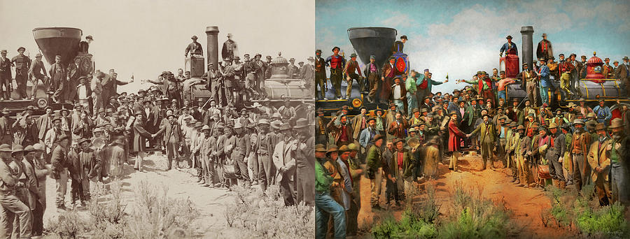 Train - Civil - The champagne photo 1869 - Side by Side by Mike Savad