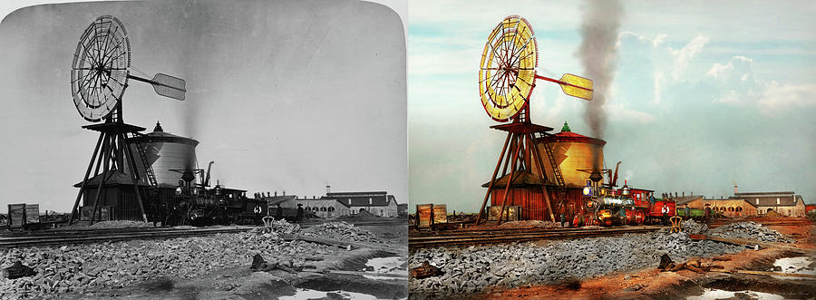 Train - Civil - The windmill at Laramie 1869 - Side by Side by Mike Savad