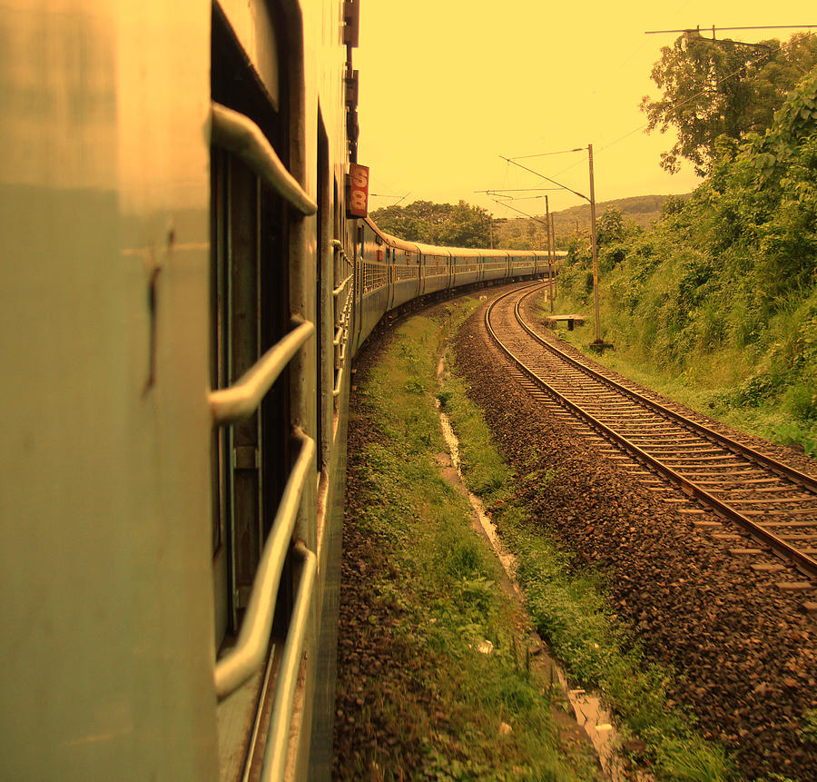 Train Journey Photograph by Photography By Lubaib Gazir