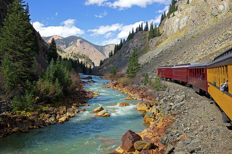 Train Ride Through Colorado Mountains Photograph by © Rozanne Hakala